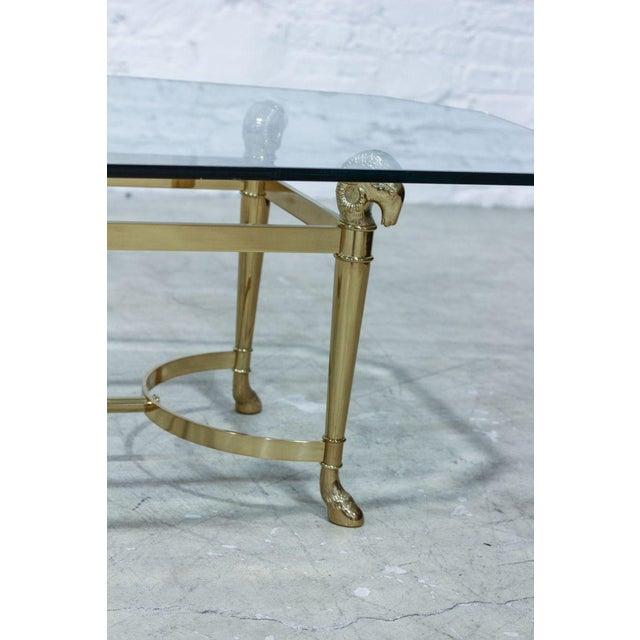 Ram's Head Brass Coffee Table - Image 3 of 5