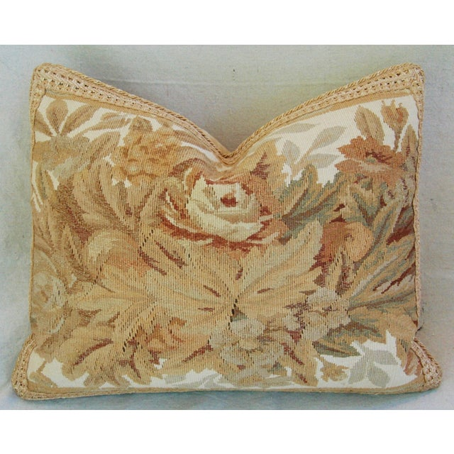 Custom Aubusson Tapestry Pillows - A Pair - Image 5 of 11