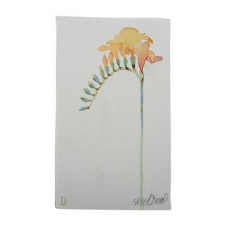 """""""Yellow Freesia"""" Original Watercolor"""