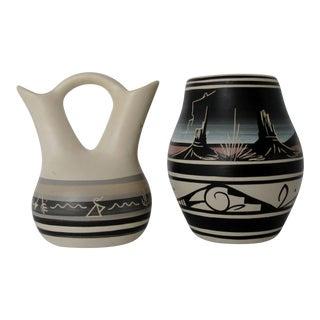 Southwestern Ceramic Vases, 2 Pieces
