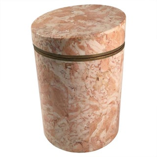 Vintage 1970s Maitland-Smith Stone Canister