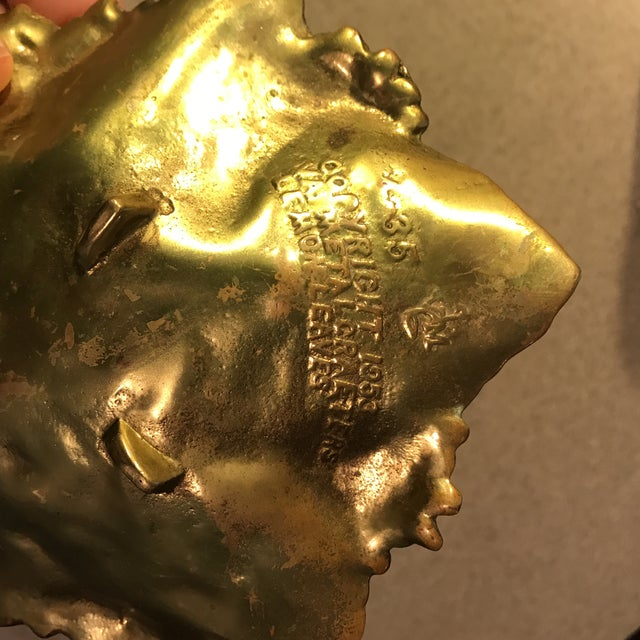 Virginia Metal Crafters Brass Lemon Leaves Tray - Image 9 of 9