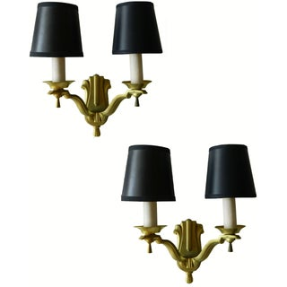French Brass Sconces - A Pair