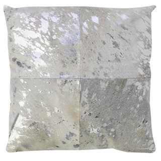 Silver Cowhide Pillow