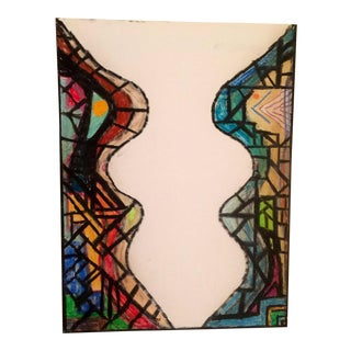 2017 Stained Glass Oil Stick Painting