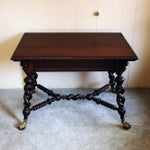 Image of 19th Century Merklen Brothers Oak Library Table