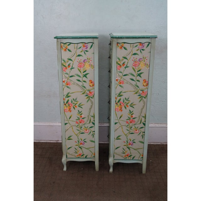 Permacraft Painted & Upholstered Chests - A Pair - Image 3 of 10