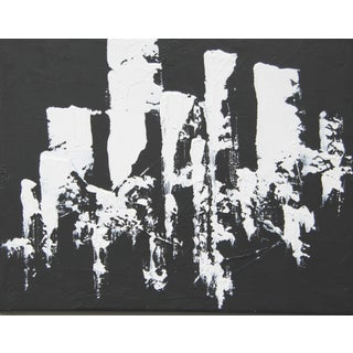 Abstract Black and White Painting by C. Plowden