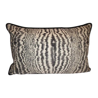 Designer Lumbar Pillow with Velvet Welt