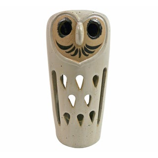 1960's Ceramic Owl Candle Lamp