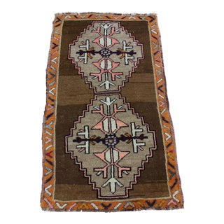 "Turkish Tribal Motif Doormat Rug - 1'10"" X 3'4"""
