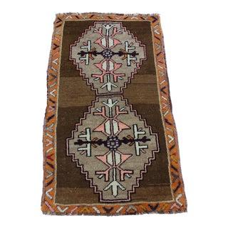 """Turkish Tribal Motif Doormat Rug - 1'10"""" X 3'4"""""""