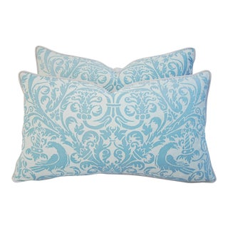 Italian Fortuny Uccelli Pillows - Pair
