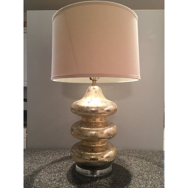 Gold Mercury Glass Lamp - Image 3 of 5