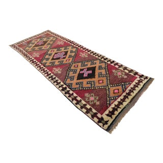 "Hand Knotted Turkish Runner Rug - 3'5"" X 9'8"""