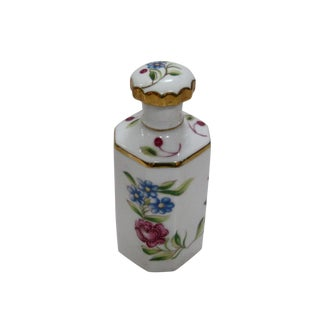 Antique Hand Painted Floral German Perfume Bottle / Decanter