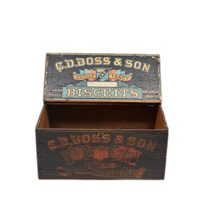 19th c. Store Display Biscuit Box