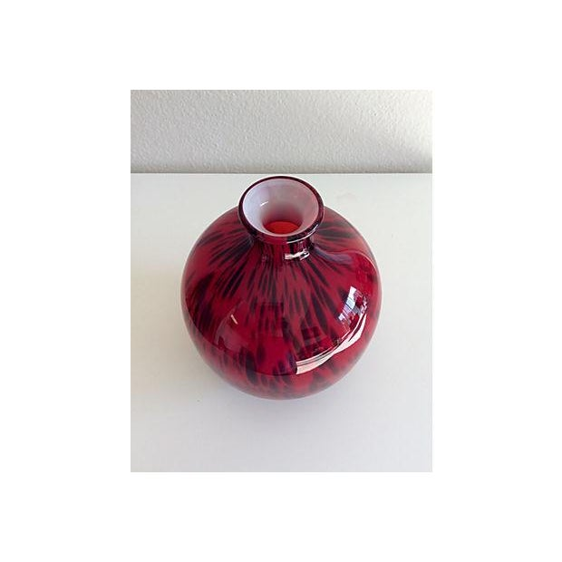 Image of Red Speckled Art Glass Vase