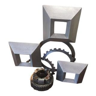 """Industrial """"Enos"""" Reclaimed Metal Sculpture"""