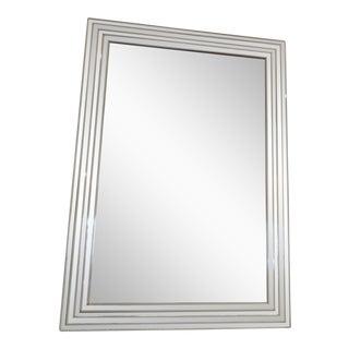 Vintage Silver & Mirror Bordered Mirror