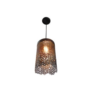 Waterfall Steel & Bronze Pendant Light