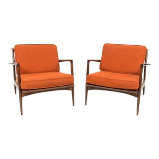 Selig Danish Mid Century Arm Chairs - Pair