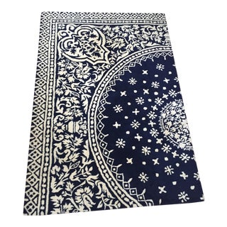 Jonathan Adler Navy & White Statement Rug