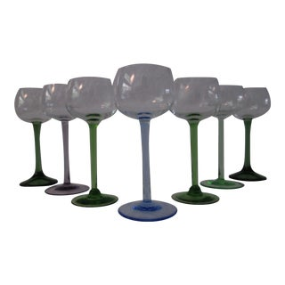 Mid-Century Roemer Wine Glasses - Set of 7