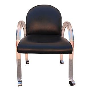 Acrylic Waterfall Arm Chair