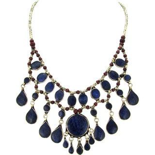 Lapis Lazuli Tribal Fringe Necklace