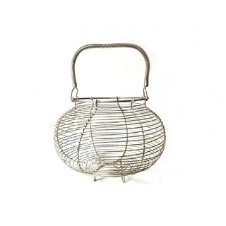 Large Vintage Wire Egg Basket