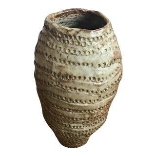Vintage 1975 Studio Pottery Coil Pot Vase Signed Larsen