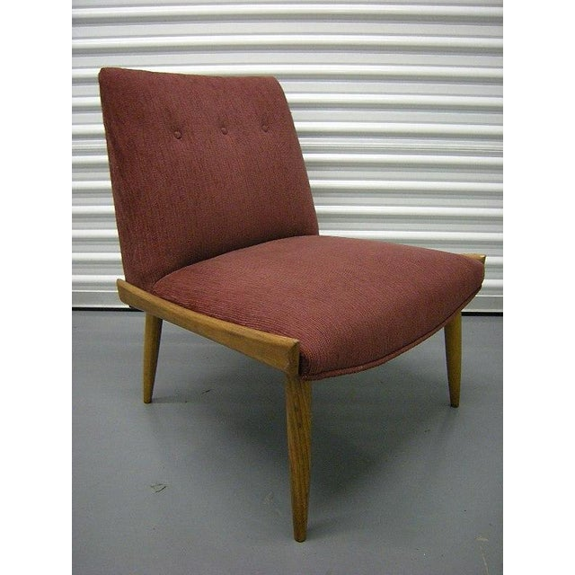 Image of Milo Baughman Vintage Sculpted Slipper Chair