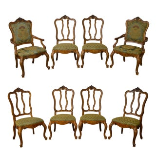 Ethan Allen Tuscany Collection French Louis XVI Style Dining Chairs - Set of 8