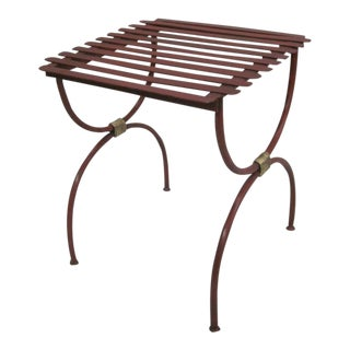 2 Pairs of French 40's Side Tables / Luggage Racks
