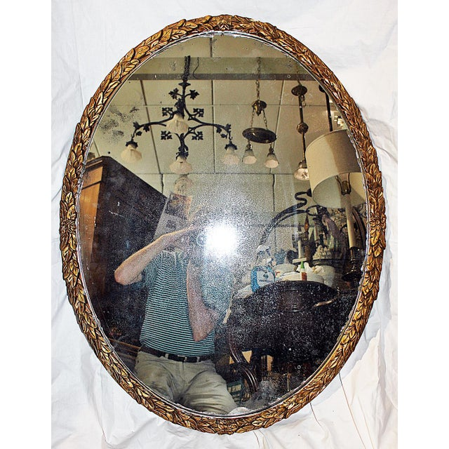 Oval Gilt Wood Mirror - Image 2 of 8
