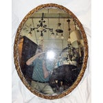 Image of Oval Gilt Wood Mirror