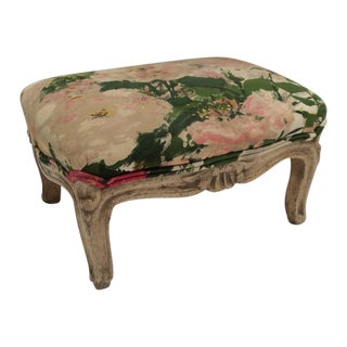 Painted Floral Antique Footstool