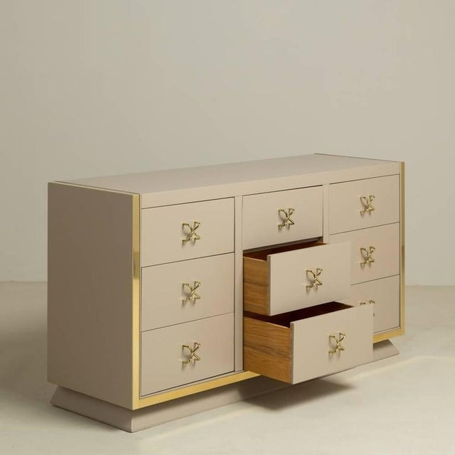 Unique Nine-Drawer Satin Lacquered Cabinet, 1950s - Image 2 of 8