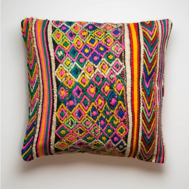 Image of Multi-Colored Turkish Kilim Pillowcase