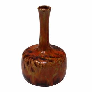 Orange Drip Glaze Vase