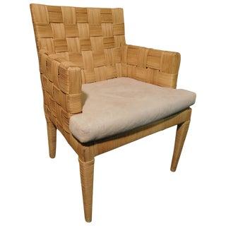 Donghia Wovan Natural Reed Arm Chair