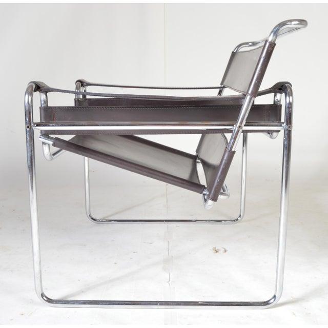 vintage marcel breuer brown wassily chair chairish. Black Bedroom Furniture Sets. Home Design Ideas