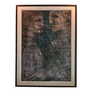 Mid-Century Figural Charcoal