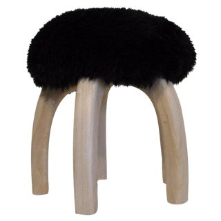 Black Patagonia Sheepskin Stool