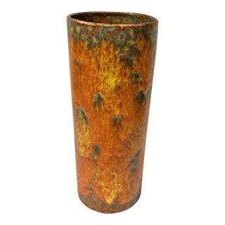 Royal Haeger Brutalist Orange Peel Lava Glaze Art Pottery Vase