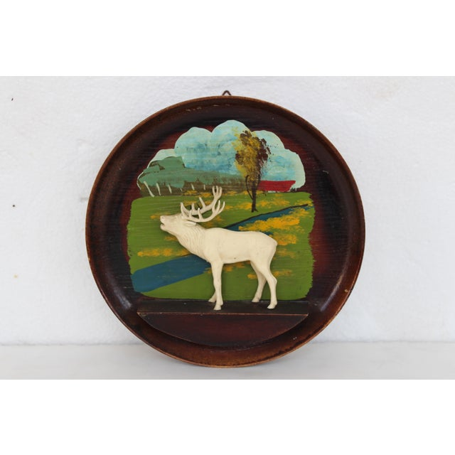 Kitschy Wood Stag Cameo Wall Art - Image 2 of 6