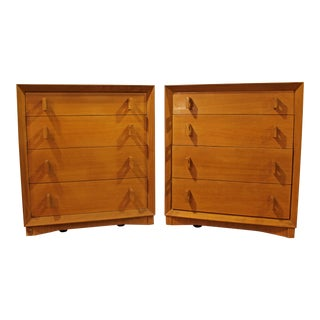 Mid-Century Danish Modern Bleached Mahogany Bachelor Chests/Dressers - A Pair