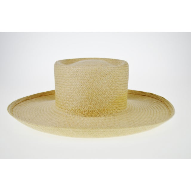 Vintage Genuine Hand-Woven Panama Hat - Image 5 of 10