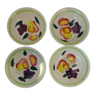 Vintage Fruit Pattern Soup/Cereal Bowls - Set of 4